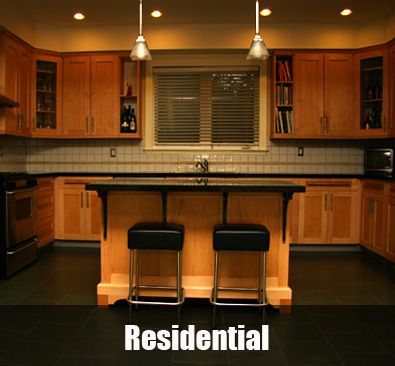 Woodright cabinets custom cabinets and architectural millwork for Residential cabinets